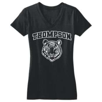 THOMPSON - Juniors Concert V Neck Tee, Short Sleeve Thumbnail