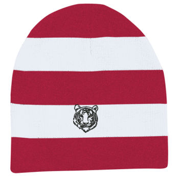 THOMPSON - Rugby Striped Knit Beanie Thumbnail